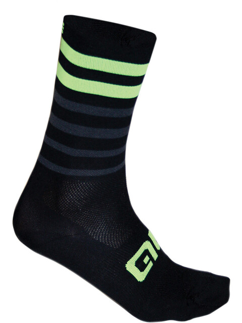 Alé Cycling Speed Fondo Socks black-fluo yellow